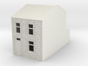 N Scale Blaengwynfi Margaret terrace 1:148 in White Natural Versatile Plastic