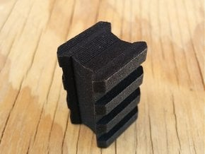 Back-to-Back 3-Slots Picatinny Rails Adapter in Black Natural Versatile Plastic