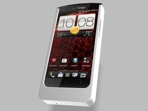 HTC Droid DNA 5000mah Charger with USB Out in White Natural Versatile Plastic