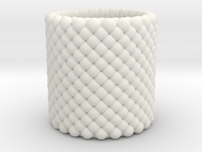 Pebble Cup - Checkered Pattern 0 (Small Size) in White Natural Versatile Plastic