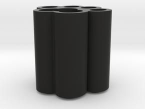 Cat Paw Vase - 64_64_64_1_s48_bv in Black Natural Versatile Plastic