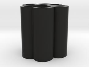 Cat Paw Vase - 64_64_64_0_s48_bv in Black Natural Versatile Plastic