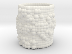 Pebble Cup - Julia Set 0 (Large Size) in White Natural Versatile Plastic