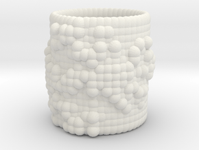 Pebble Cup - Julia Set 0 (Small Size) in White Natural Versatile Plastic