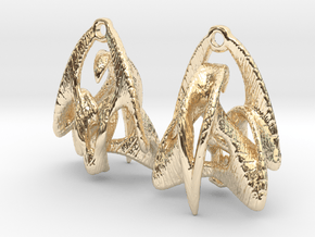 Duality Earrings - 20mm in 14k Gold Plated Brass