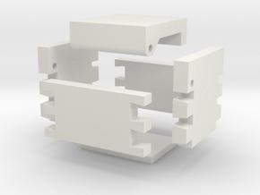 Dove Tail Jewelry Box in White Natural Versatile Plastic