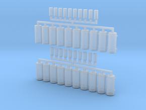 AWS Reservoir Tanks x20 (OO Gauge) in Smooth Fine Detail Plastic