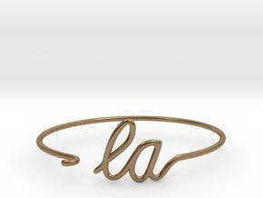LA Wire Bracelet (Los Angeles) in Natural Brass