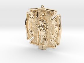 St Florian Protyect Us in 14K Yellow Gold