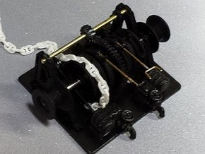 Anchor Windlass 1:48 in Smooth Fine Detail Plastic
