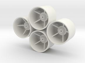 Losi Micro 1/24 Truggy Dish Wheels in White Natural Versatile Plastic