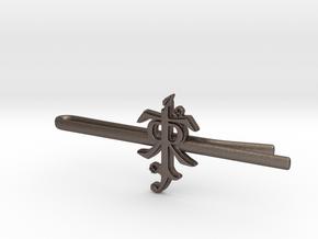JRR TOLKIEN: Tie clip in Polished Bronzed Silver Steel
