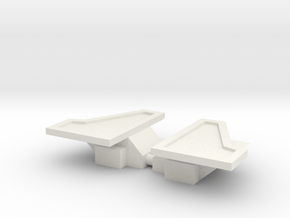 Flame-o Knees in White Natural Versatile Plastic