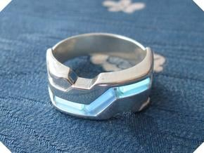 US14.5 Ring XXI: Tritium (Silver) in Polished Silver