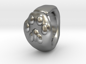 Cat Paw Ring - sc1 (19mm) in Natural Silver
