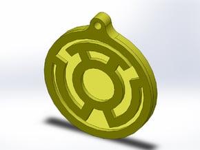 Yellow Lantern Key Chain in Full Color Sandstone