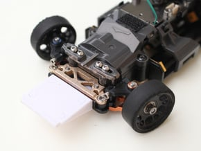 Kyosho Mini-Z MR-03 Reinforcement Chassis Brace in Polished Bronzed Silver Steel