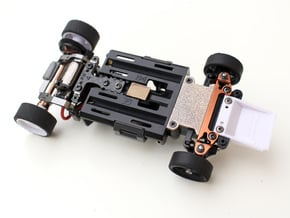 Kyosho Mini-Z MR-03 Front Lower Cover in Polished Bronzed Silver Steel