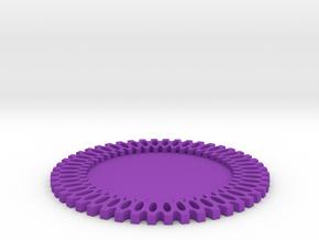 Maker Coaster in Purple Processed Versatile Plastic