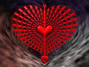 Heart Swap Spinner Rising Sun - 15cm in Red Processed Versatile Plastic