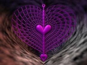 Heart Swap Spinner Spiral Ribs - 15cm in Purple Processed Versatile Plastic
