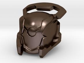 Kabr Helm in Polished Bronze Steel