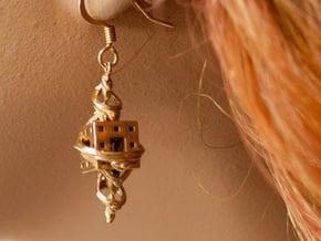 Fractal Earrings - El corazón del matemático in 18k Gold Plated Brass