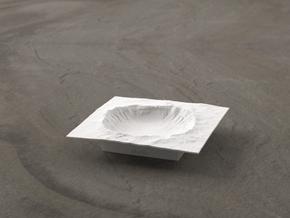 3'' Meteor Crater, Arizona, USA in White Natural Versatile Plastic