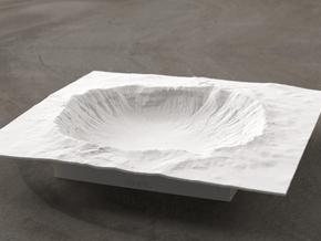 6'' Meteor Crater, Arizona, USA in White Natural Versatile Plastic