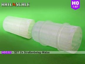 SET 2x Straßenbelag-Walze (Reihenverband - H0) in Smooth Fine Detail Plastic