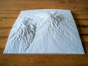 Mt. Taranaki in White Natural Versatile Plastic