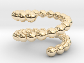 Spiral ring 20 in 14k Gold Plated Brass