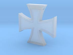 Iron Cross Pendant Revised in Smooth Fine Detail Plastic