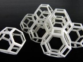 Space filling truncated octahedra in White Natural Versatile Plastic