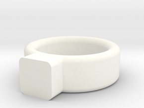 Toy Jewelry Ring Band in White Processed Versatile Plastic