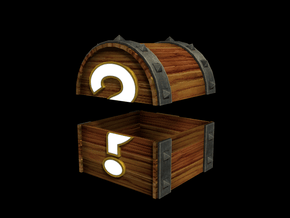 Mystery Chest (Color, Large) in Full Color Sandstone