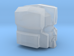 Cranky Offroader Head in Smooth Fine Detail Plastic: Small