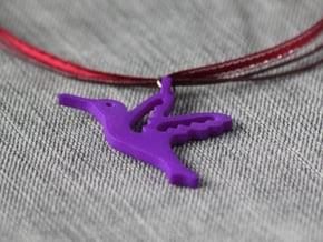 Hummingbird Pendant in Purple Processed Versatile Plastic