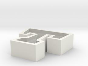 T in White Natural Versatile Plastic