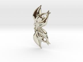 Yoga Lotus Head Pendant in 14k White Gold