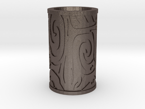Tribal style in Polished Bronzed Silver Steel