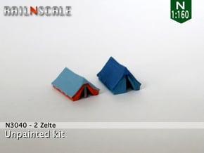2 Zelte (N 1:160) in Smooth Fine Detail Plastic