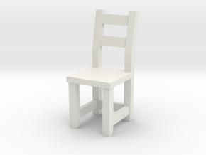 1:48 IVAR Chair (not full size) in White Natural Versatile Plastic