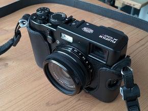 Lens Cap Adaptor for DIY Filter on Fujifilm X100 in Black Natural Versatile Plastic