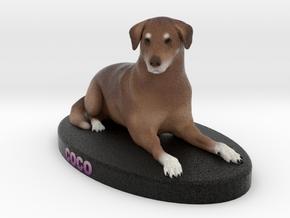 Custom Dog Figurine - Coco in Full Color Sandstone