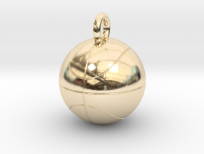 Basketball in 14K Yellow Gold