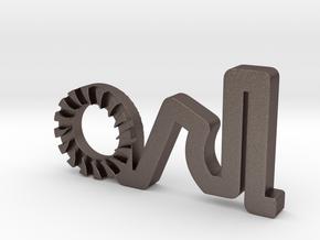 Arl Logo Update in Polished Bronzed Silver Steel