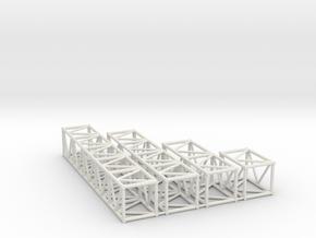"20.5""sq Box Truss Sampler 1:48 in White Natural Versatile Plastic"