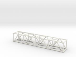 "8' 16""sq Box Truss 1:48 in White Natural Versatile Plastic"