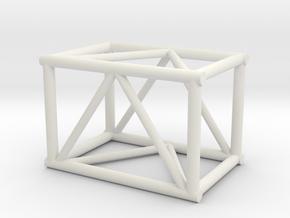 "2'6"" 20.5""sq Box Truss 1:48 in White Natural Versatile Plastic"